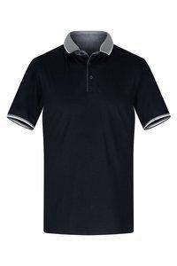 Koszulka ciemny granat z ozdobnym kołnierzykiem polo