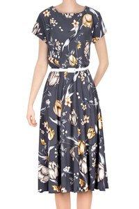 Sukienka Gotta szara w kwiaty