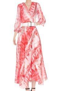 Sukienka damska 4655 beżowo-czerwona