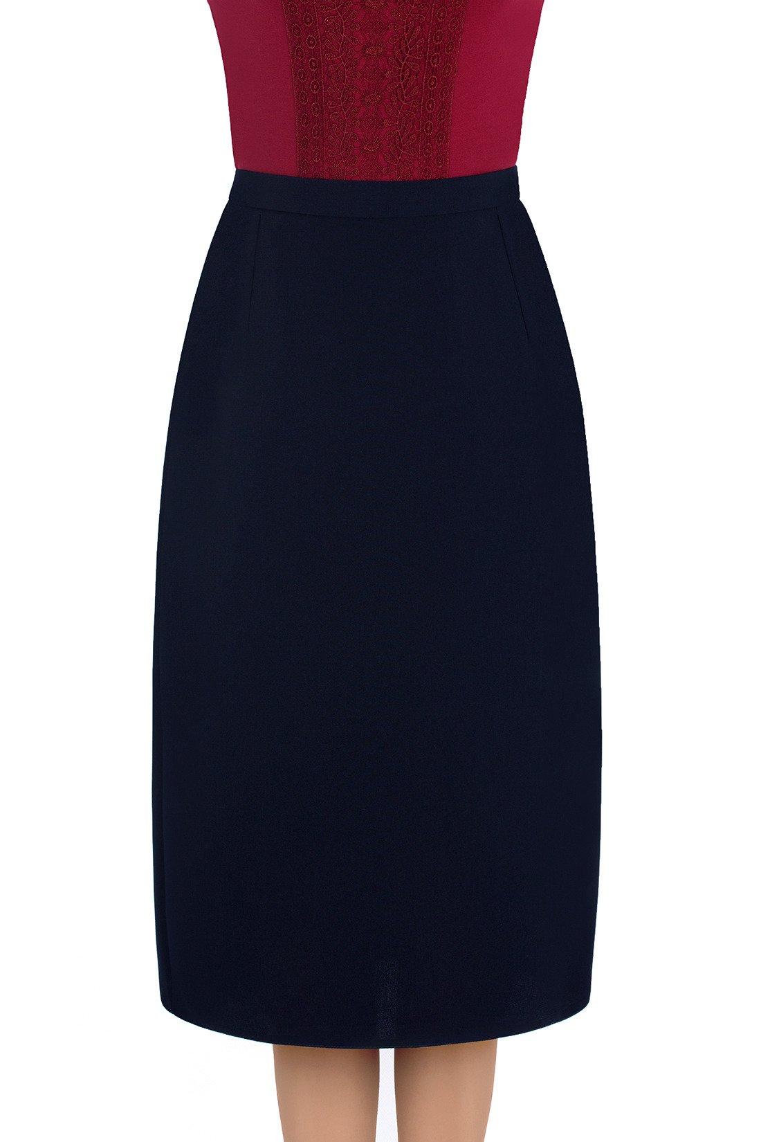 cf274ffc4ac9e Elegancka spódnica Nicole granatowa prosty fason | sklep internetowy ...