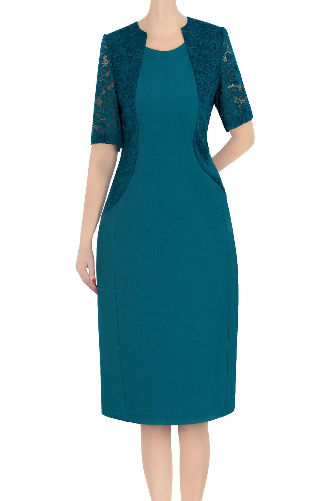be50b60c35 Klasyczna sukienka damska Zosia morska 3379 Kliknij