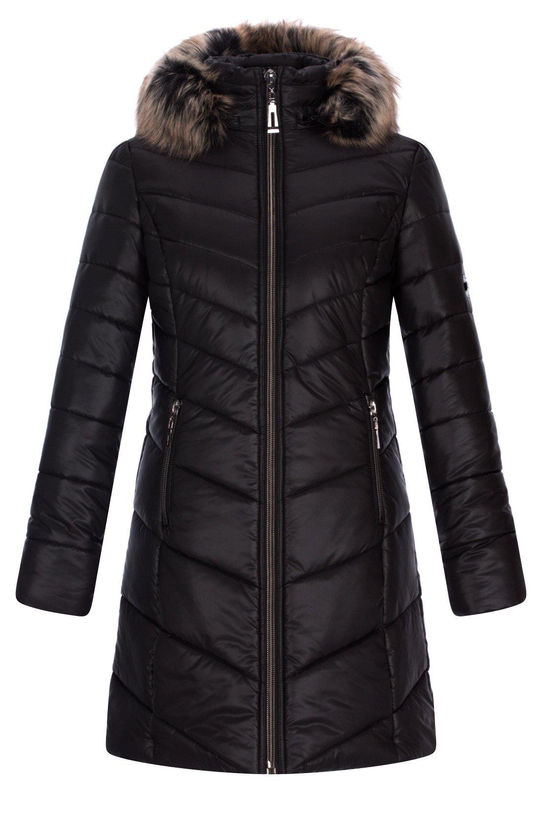 2596c962fd473 Kurtka zimowa AnMar Zara czarna z kapturem i futerkiem | sklep ...