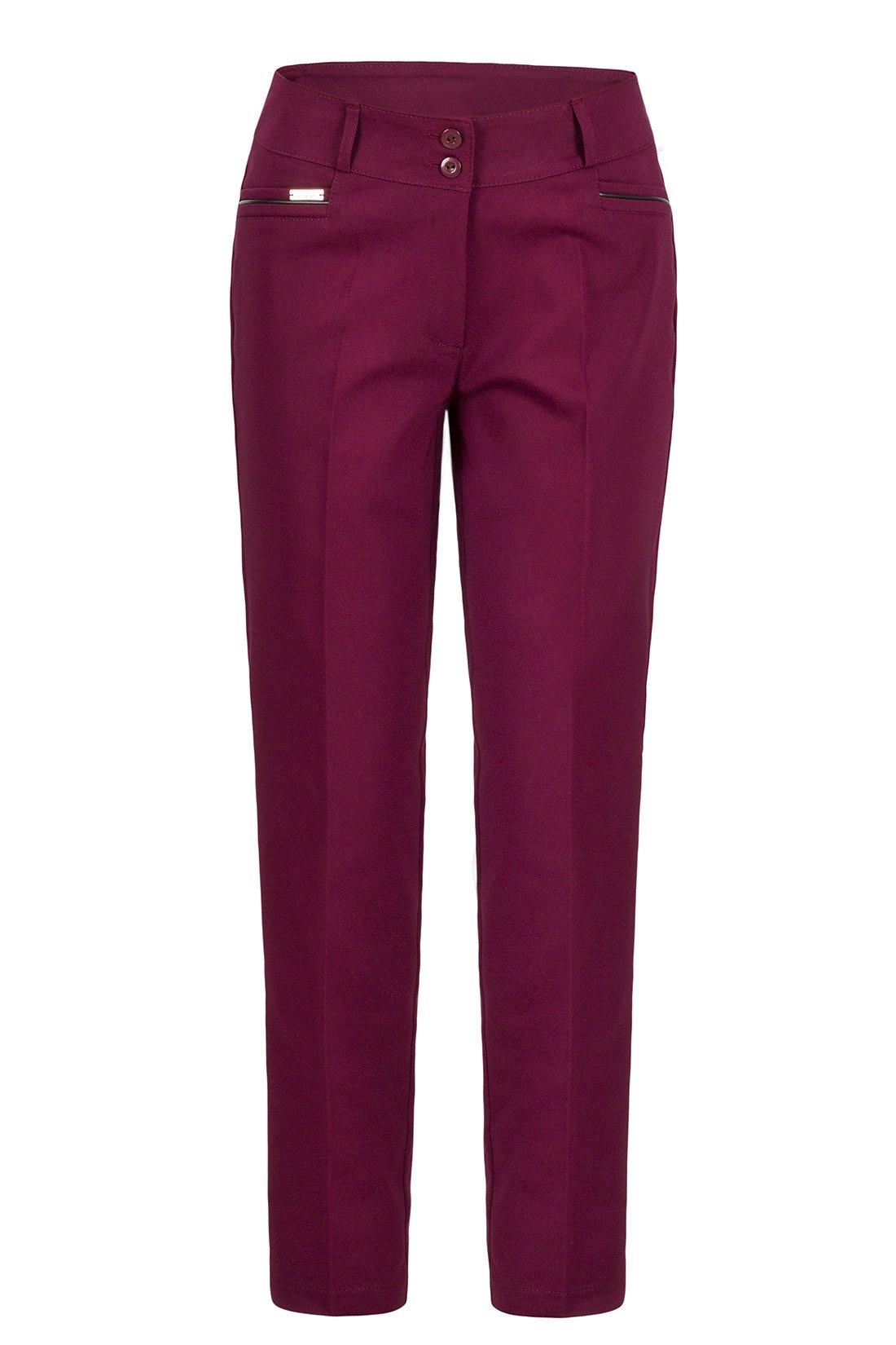 24a4336f2acd9 Spodnie damskie 7/8 model 624 bordowe wysokie w stanie   sklep ...