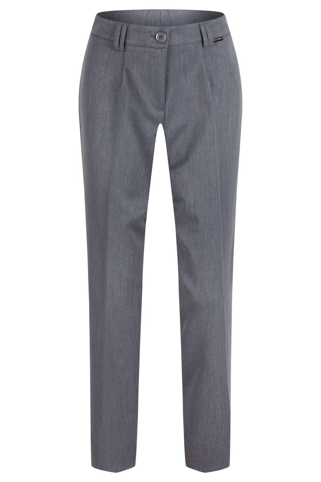76f63079 Spodnie damskie Hela szare rozciągliwe wysokie w stanie długość 7/8