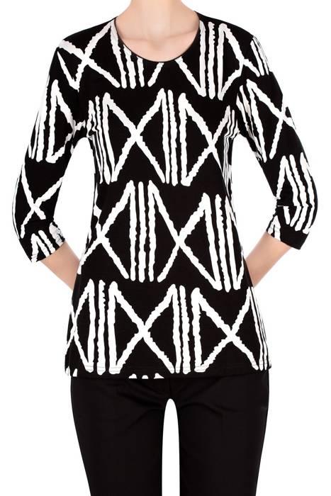 Bluzka Aga czarna w białe wzory