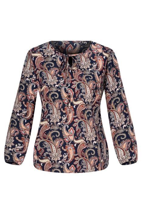 Bluzka W&M granatowa w kolorowe wzory
