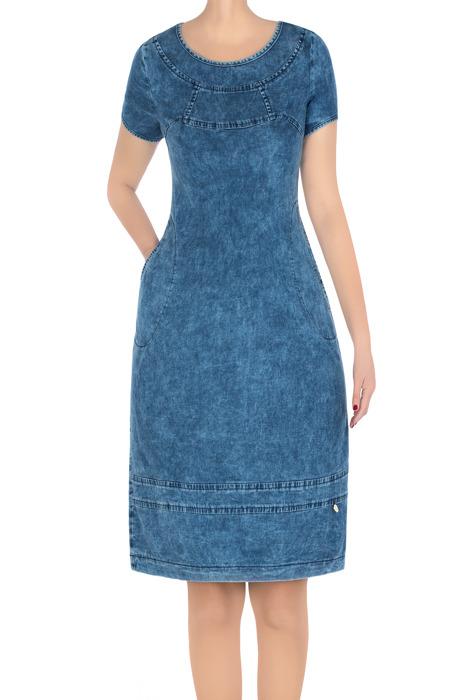 Codzienna sukienka damska jeansowa 3275