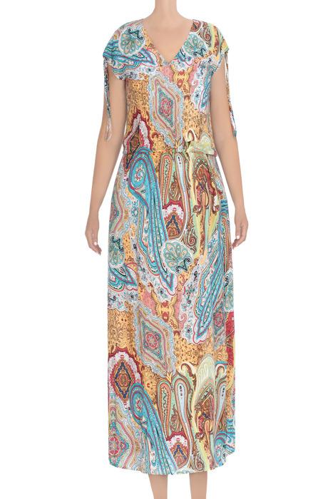Długa, letnia sukienka damska jasny jeans 3440