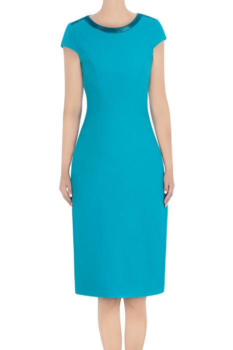 Elegancka sukienka Dagon 2813 morska