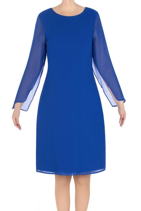 Elegancka sukienka damska Dagon 2790 chabrowa