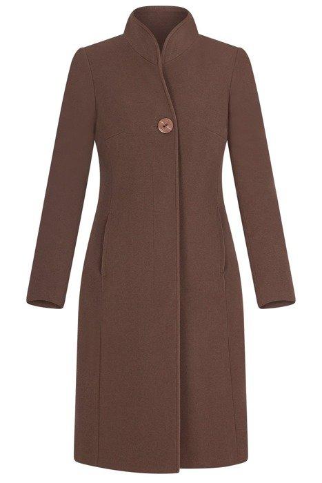 Elegancki płaszcz damski koloru ciemnego beżu 3701