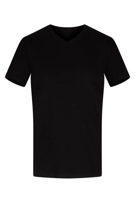 Klasyczna koszulka męska czarna w serek