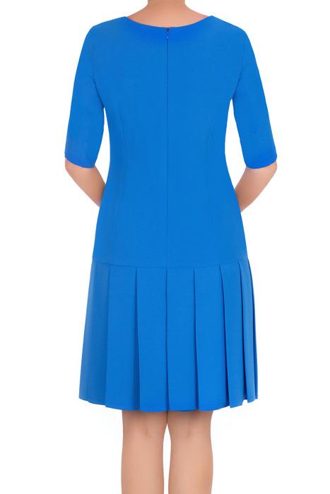 Klasyczna sukienka Rene Monika niebieska prosty fason