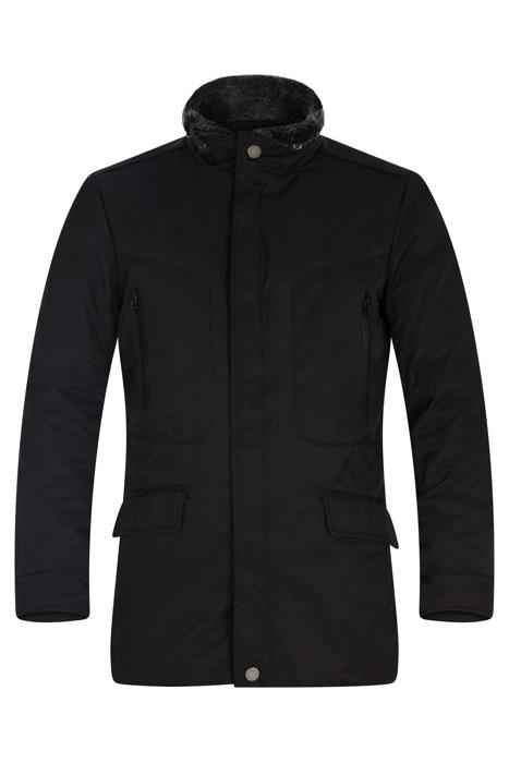 Klasyczna zimowa kurtka męska Lavard Taurus Aberdeen 12227 czarna