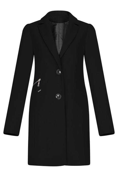 Klasyczny płaszcz damski Huna Jola czarny