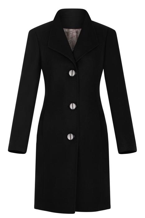 Klasyczny płaszcz damski Moris Aga czarny