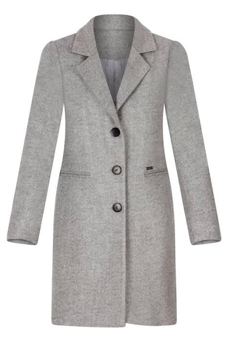 Klasyczny płaszcz damski Rena szary