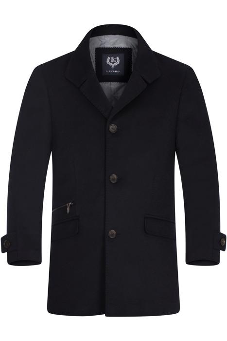 Klasyczny płaszcz zimowy Lavard Raul 2 Maxi Verona 20550 ciemny granat