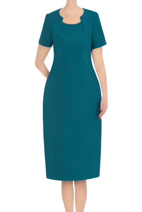 Koktajlowa sukienka damska Ela morska 3372