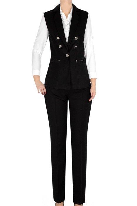 Komplet damski kamizelka i spodnie czarny