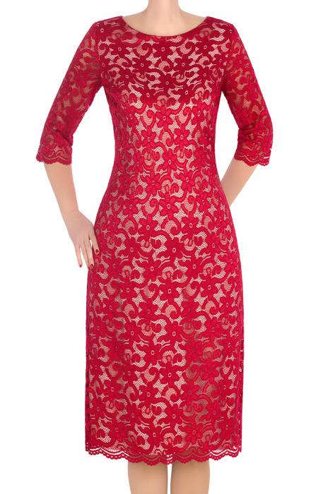 Koronkowa sukienka Lerros Collection Kora malinowa czerwień