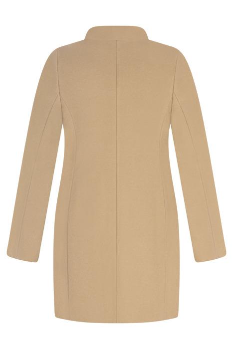 Kurtka zimowa Caro Fashion 2925 jasny camel kołnierzyk wełniana