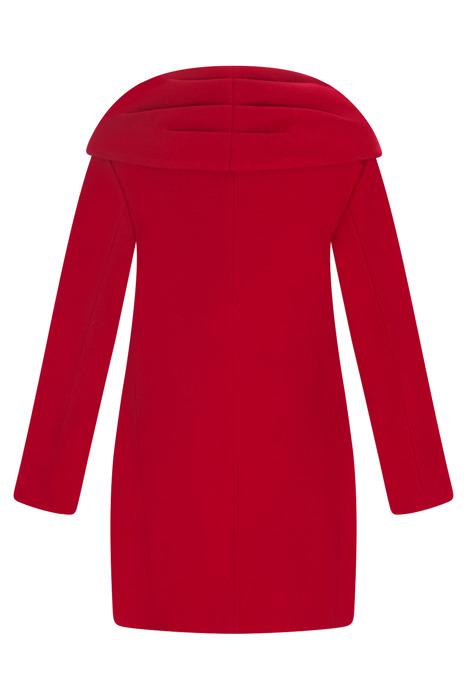 Kurtka zimowa Caro Fashion czerwona opadający kołnierz