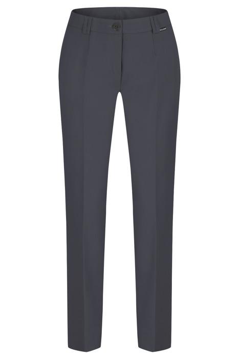 Spodnie damskie Hela ciemny stalowy rozciągliwe wysokie w stanie długość 7/8
