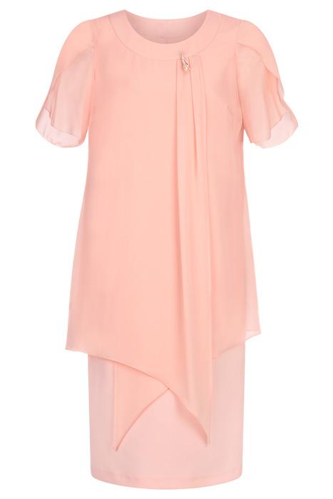 Sukienka Andrea szyfonowa morelowa tuszująca