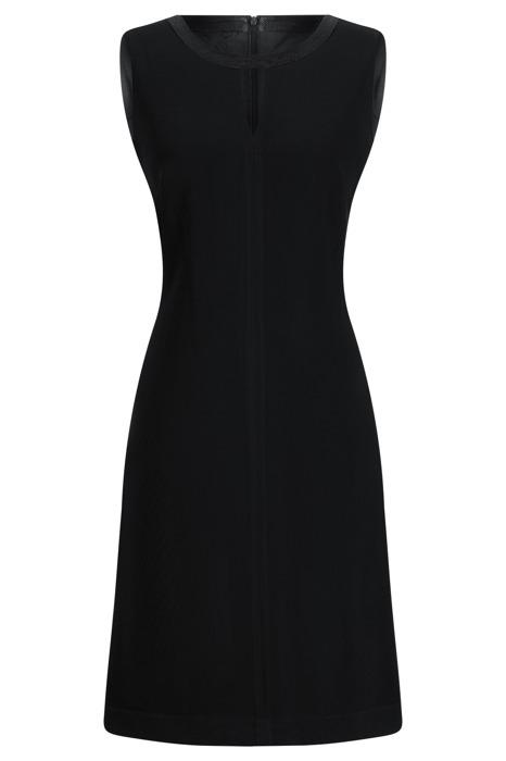 Sukienka Dagon 1980 czarna z czarną obwódką przy szyi