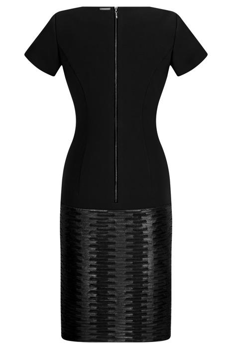 Sukienka Dagon 1992 czarna ze skórką na dole