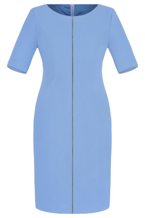 Sukienka Dagon 2077 błękit królewski z ozdobną imitacją suwaka