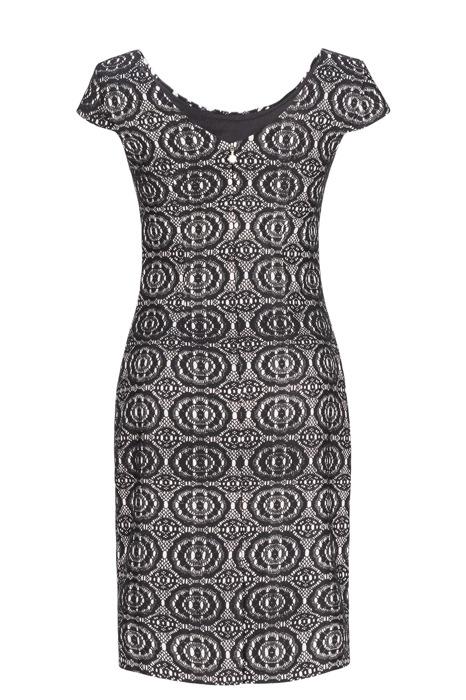 Sukienka Dagon 2247 czarno-srebrna