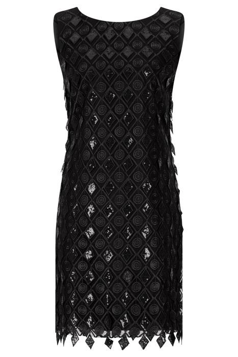 Sukienka Dagon 2468 czarna z cekinami