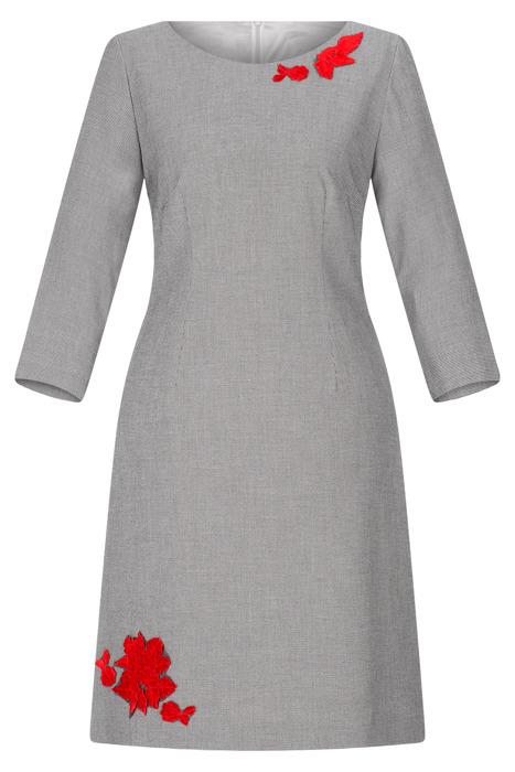 Sukienka Dagon 2505 czarno-biała w drobną kratkę