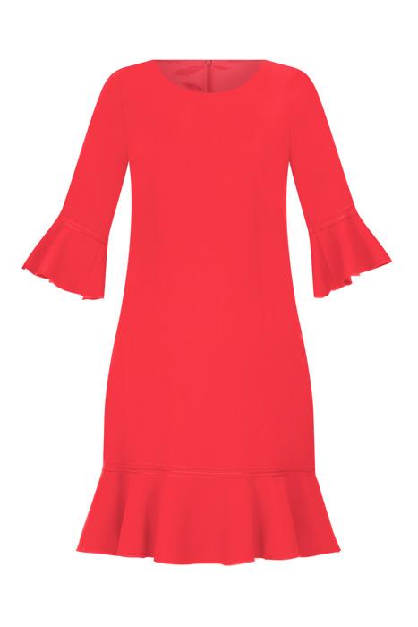 Sukienka Dagon 2526 poziomkowy z falbaną