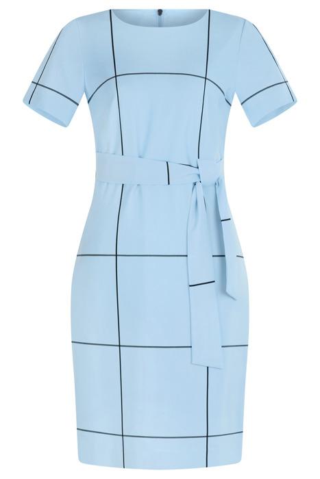 Sukienka Dagon 2620 niebieska w kratkę