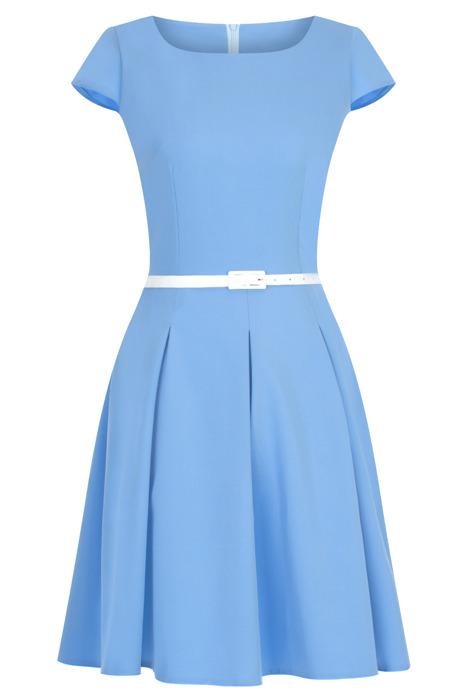 Sukienka Gotta niebieska z paskiem w talii
