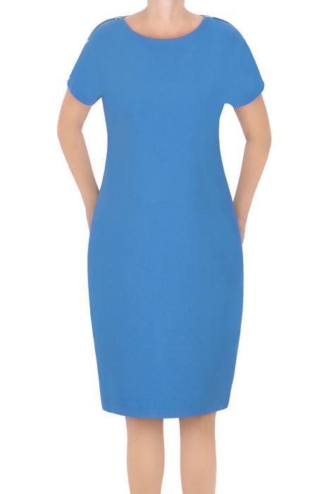 Sukienka J.S.A. Kasia niebieska z pęknięciem na ramieniu