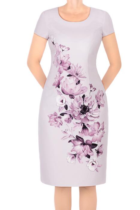 Sukienka Kolor wrzosowa w kwiaty