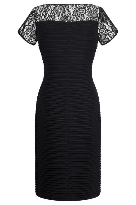 Sukienka R170KR czarna z dodatkiem koronki