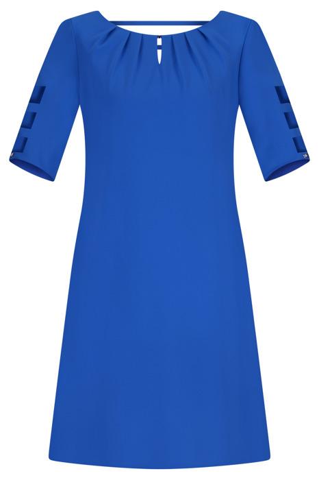 Sukienka Trynite TK-15 chabrowa trapezowa
