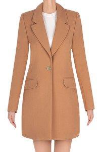Elegancki płaszcz damski wiosenny camel 3270